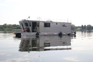 Thumbnail - Hausboot Wolf aus Edelstahl, neuwertig, ganzjahrestauglich (Video)(TB)